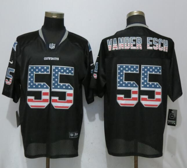 Men Dallas cowboys 55 Vander edch USA Flag Fashion Black Elite Nike NFL Jerseys