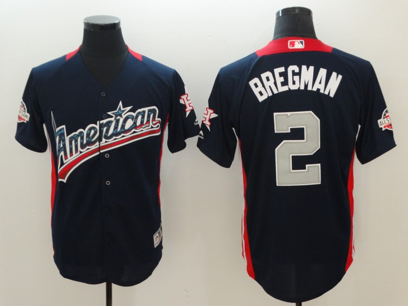 Men Houston Astros 2 Bregman 2018 MLB All Star jerseys