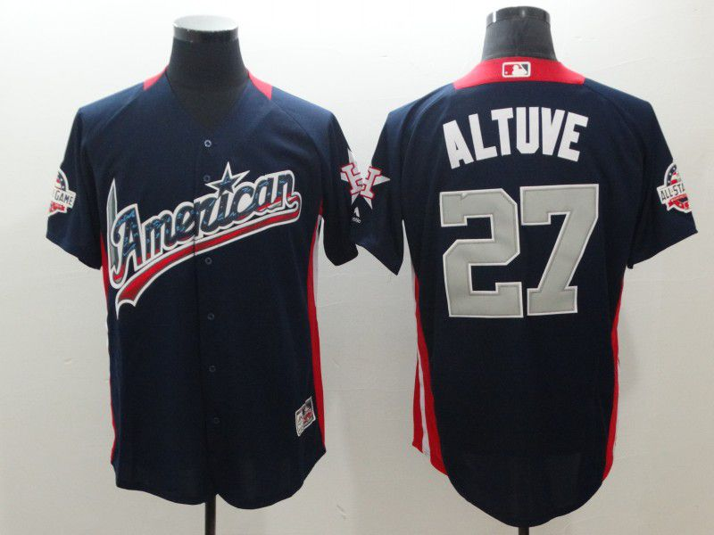 Men Houston Astros 27 Altuve Blue All star MLB Jerseys
