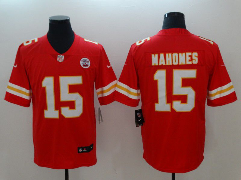 Men Kansas City Chiefs 15 Mahomes Red Vapor Untouchable Player Nike Limited NFL Jerseys