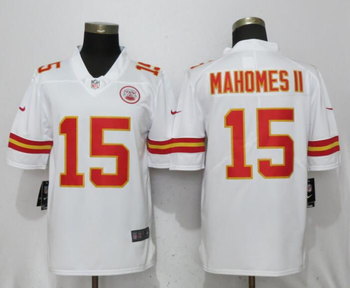 Men Kansas City Chiefs 15 Mahomes ll White Vapor Untouchable Player Nike Limited NFL Jerseys