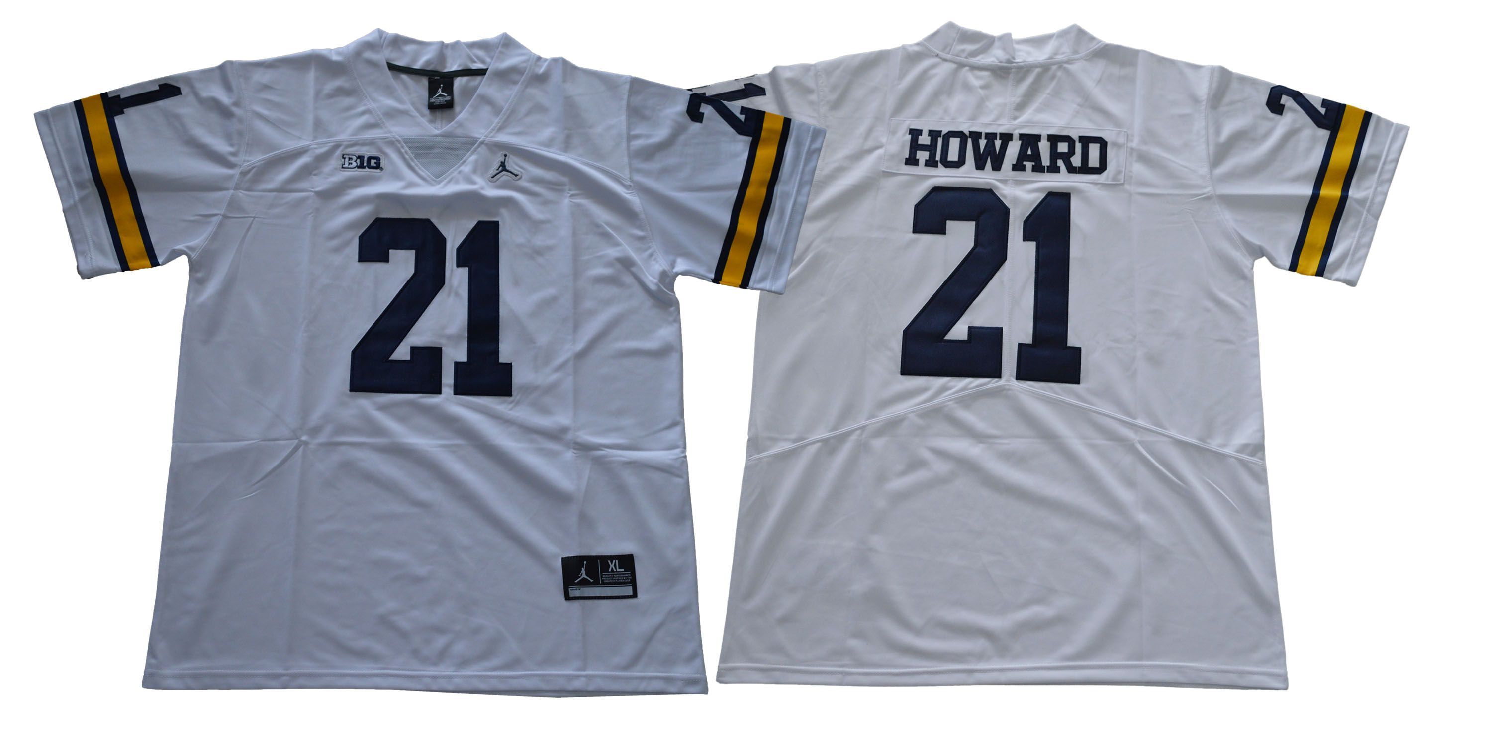 Men Michigan Wolverines 21 Howard White NCAA Jerseys