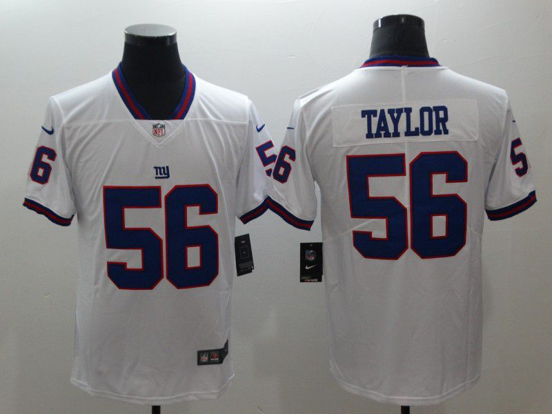 Men New York Giants 56 Taylor White Nike Vapor Untouchable Limited Player NFL Jerseys