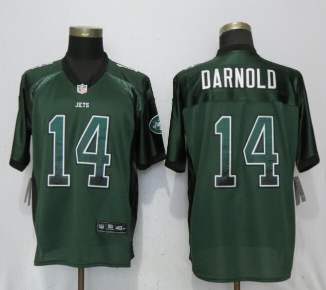 Men New York Jets 14 Darnold Drift Fashion Green Nike Elite NFL Jerseys
