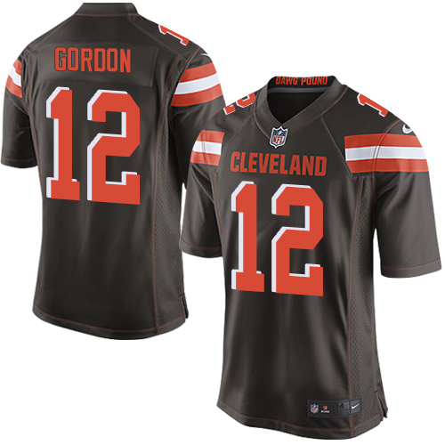 Men Nike Cleveland Browns 12 Josh Gordon Game Brown Team Color NFL Jersey