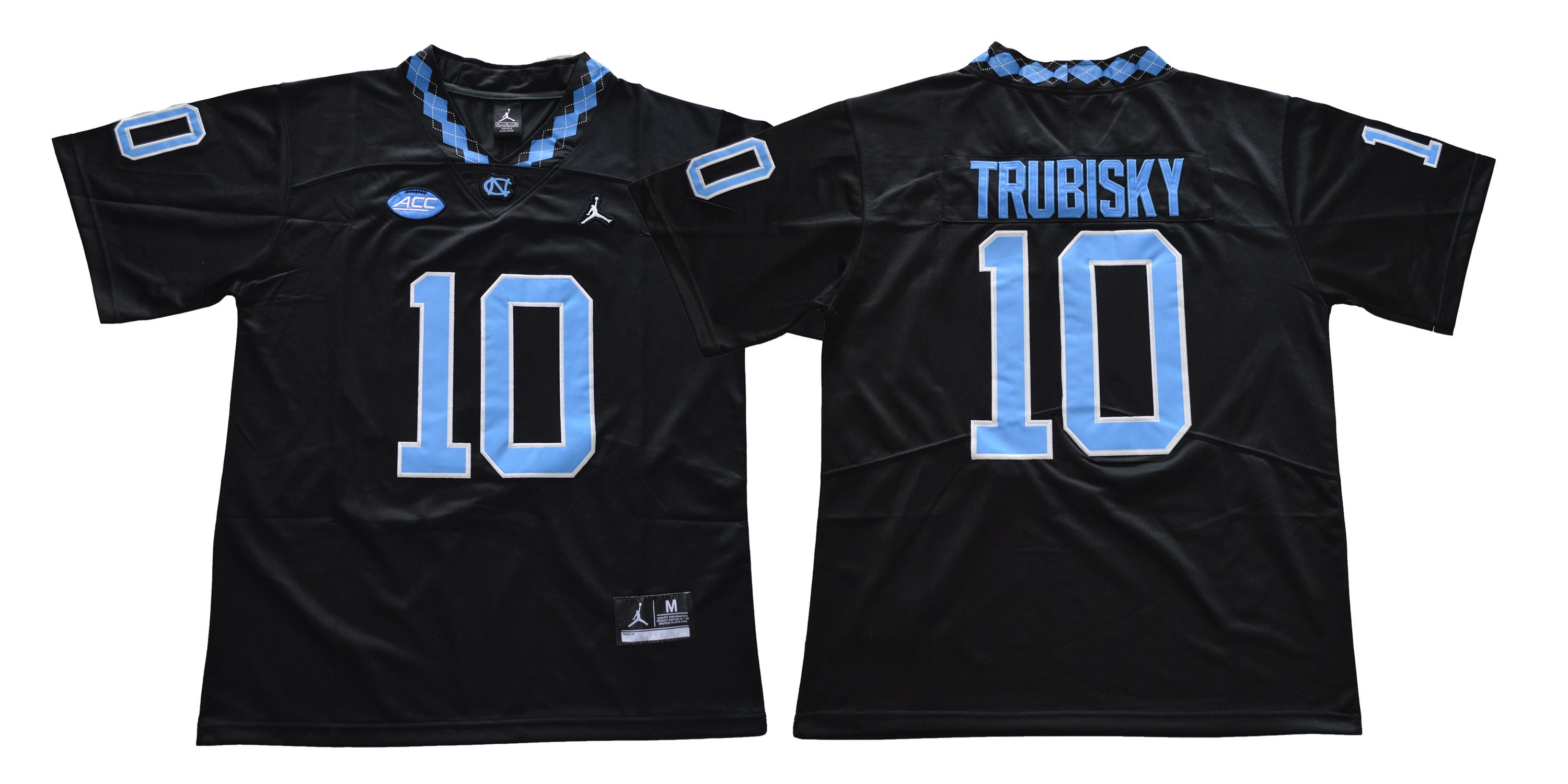 Men North Carolina Tar Heels 10 Trubisky Black NCAA Jerseys