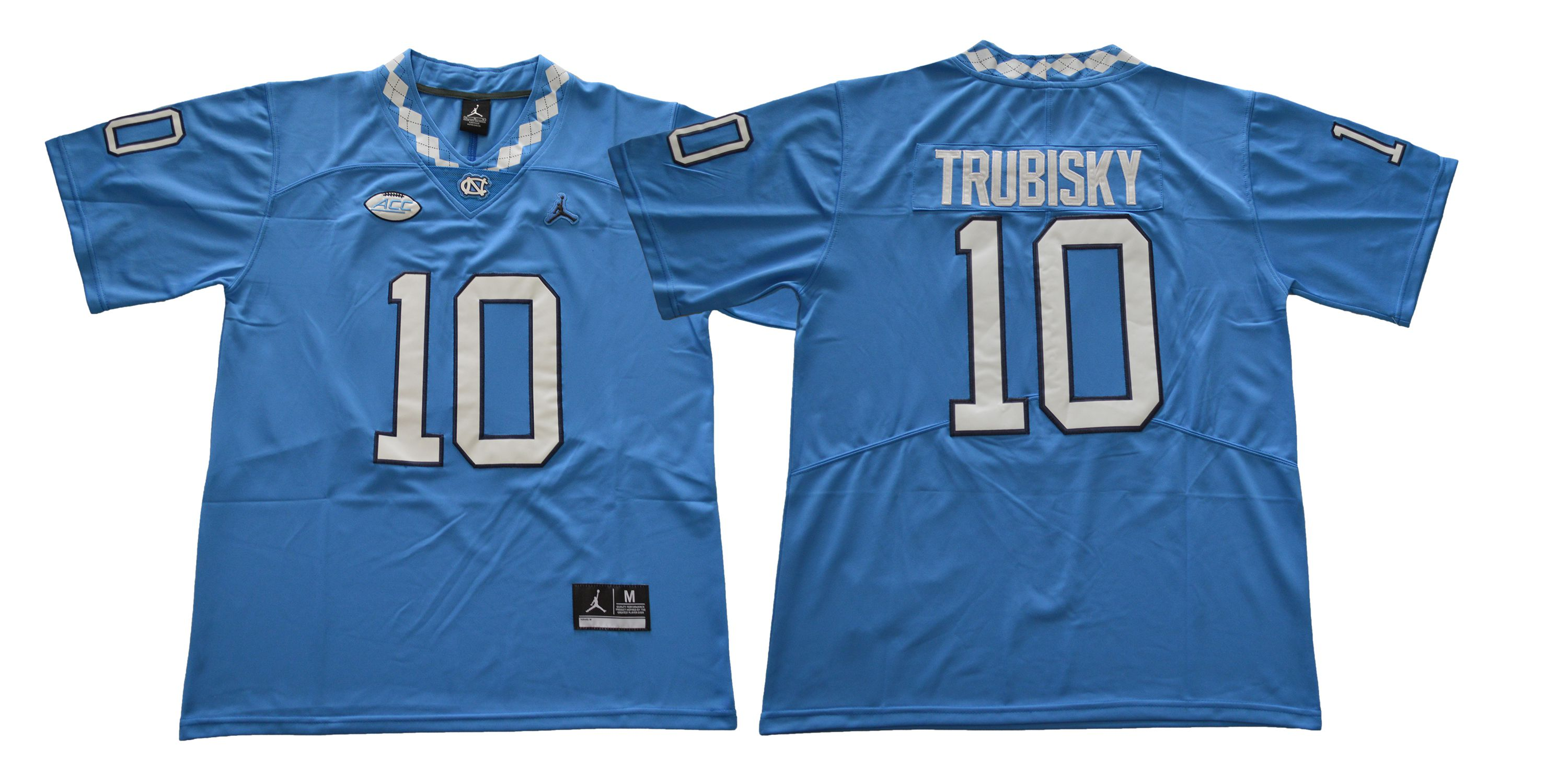 Men North Carolina Tar Heels 10 Trubisky Blue NCAA Jerseys
