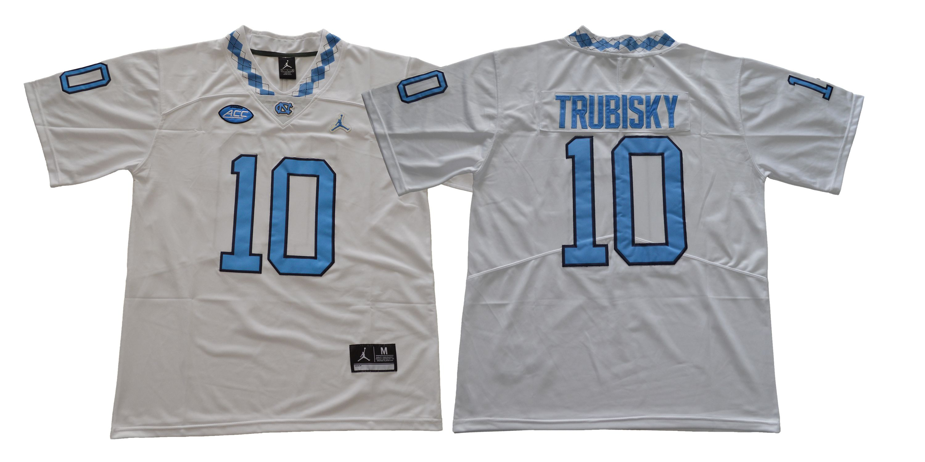 Men North Carolina Tar Heels 10 Trubisky White NCAA Jerseys