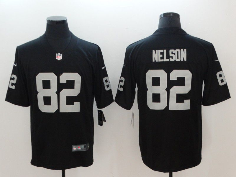 Men Oakland Raiders 82 Nelson Black Vapor Untouchable Player Nike Limited NFL Jerseys