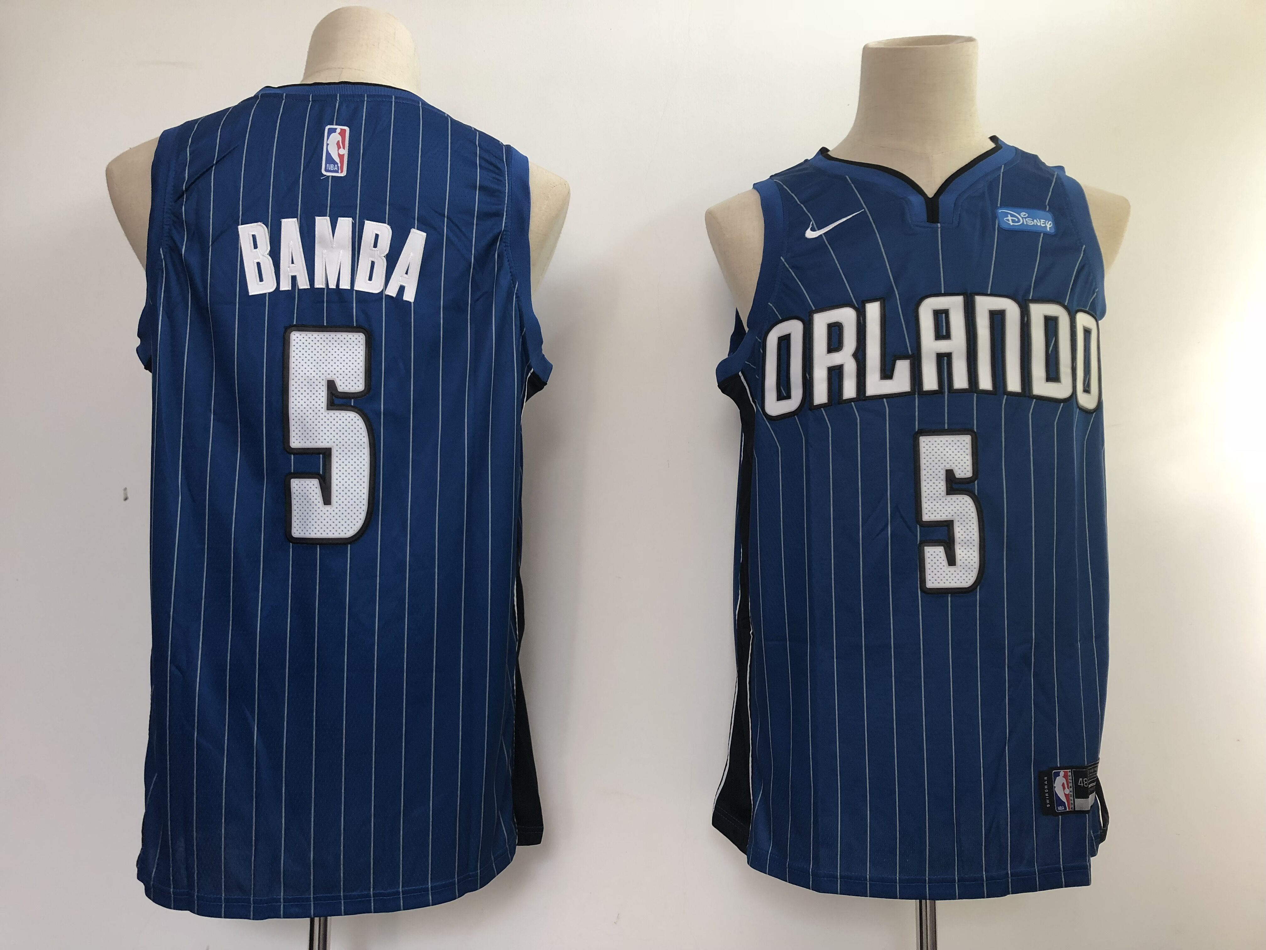 Men Orlando Magic 5 Bamba Blue Nike NBA Jerseys