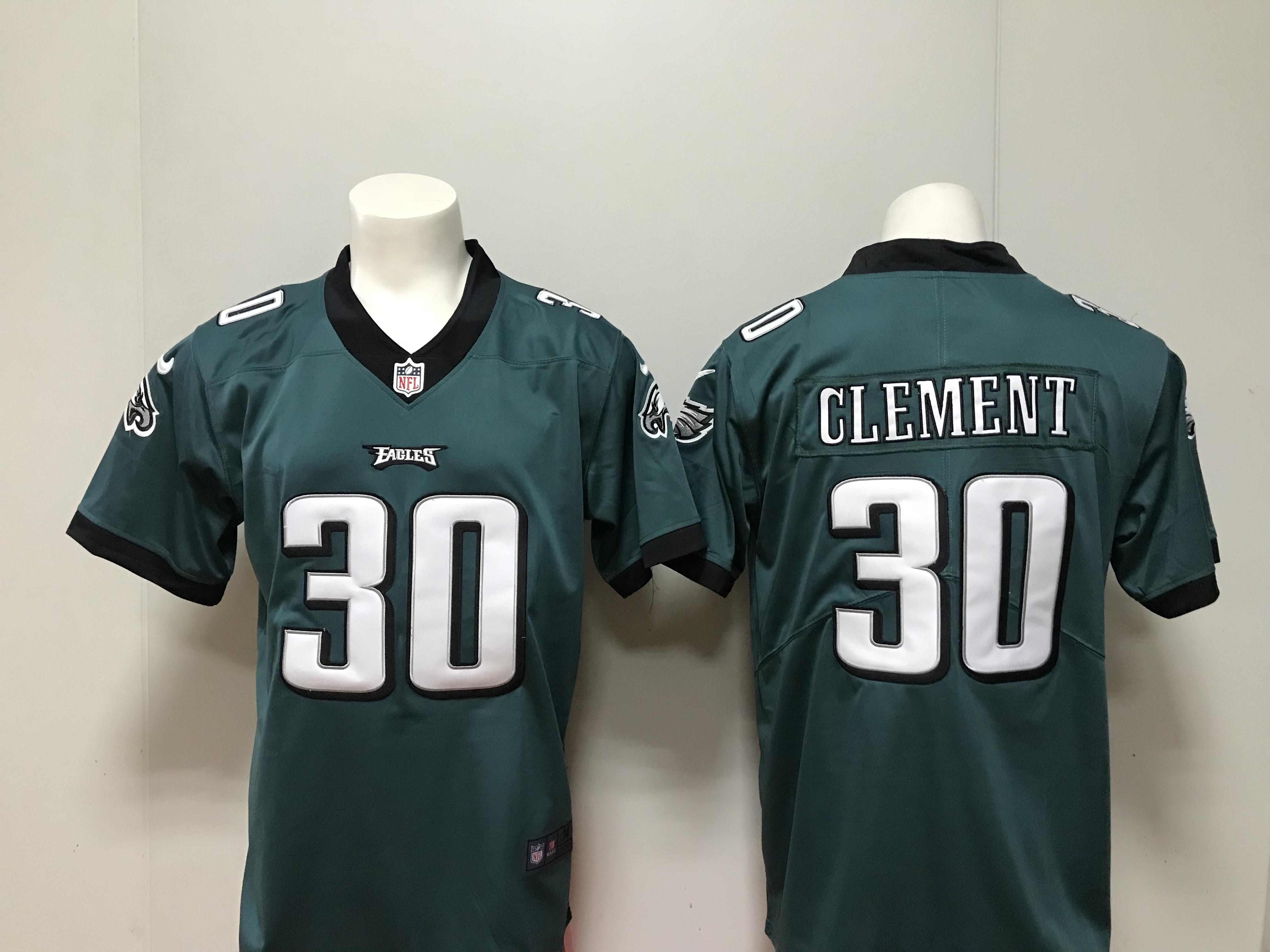 5eee6610255 Men Philadelphia Eagles 30 Corey Clement nike NFL Pro Line Midnight Green  Team Color Player Jersey