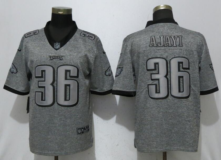 Men Philadelphia Eagles 36 Ajayi Gray Vapor Untouchable Stitched Gridiron Limited Nike NFL Jerseys