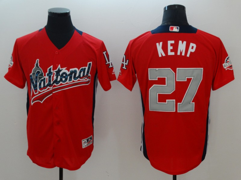 Men San Diego Padres 27 Matt Kemp red 2018 MLB All Star jerseys