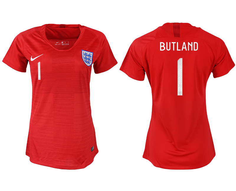 Women 2018 World Cup England away aaa version 1 red soccer jersey