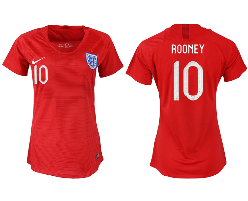 Women 2018 World Cup England away aaa version 10 red soccer jersey1