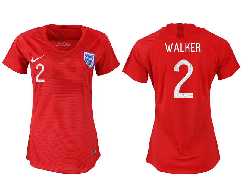 Women 2018 World Cup England away aaa version 2 red soccer jersey
