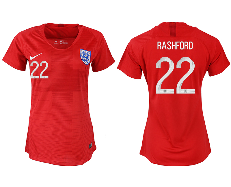 Women 2018 World Cup England away aaa version 22 red soccer jersey