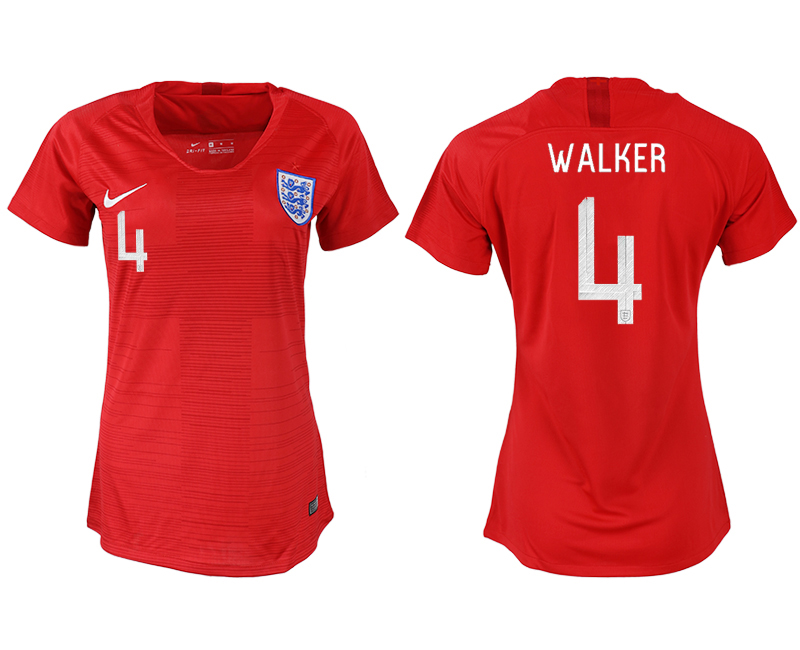 Women 2018 World Cup England away aaa version 4 red soccer jersey