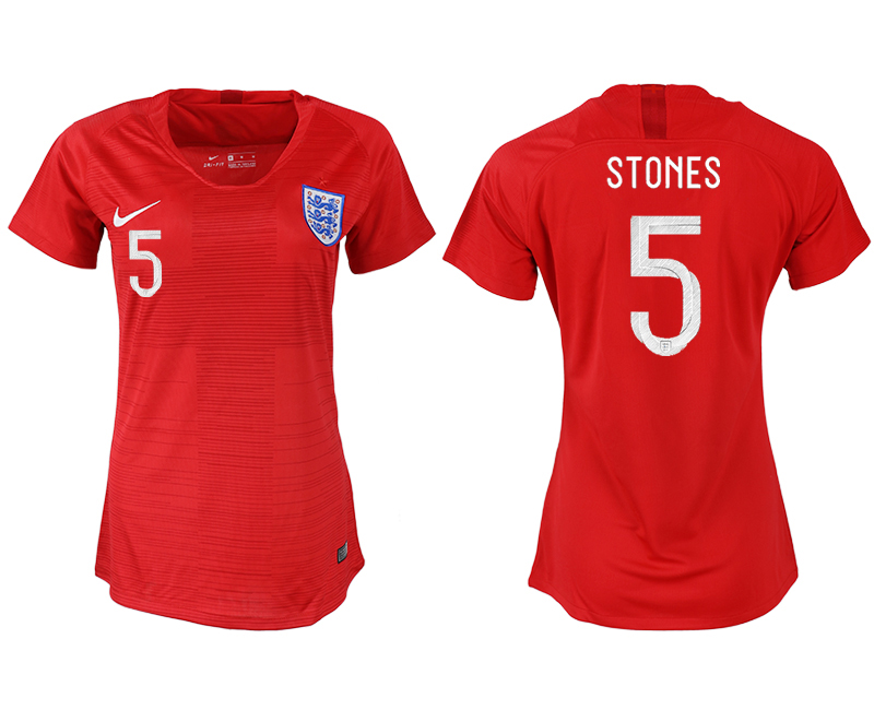 Women 2018 World Cup England away aaa version 5 red soccer jersey
