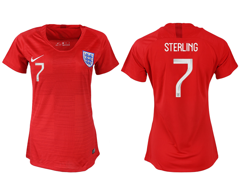 Women 2018 World Cup England away aaa version 7 red soccer jersey1