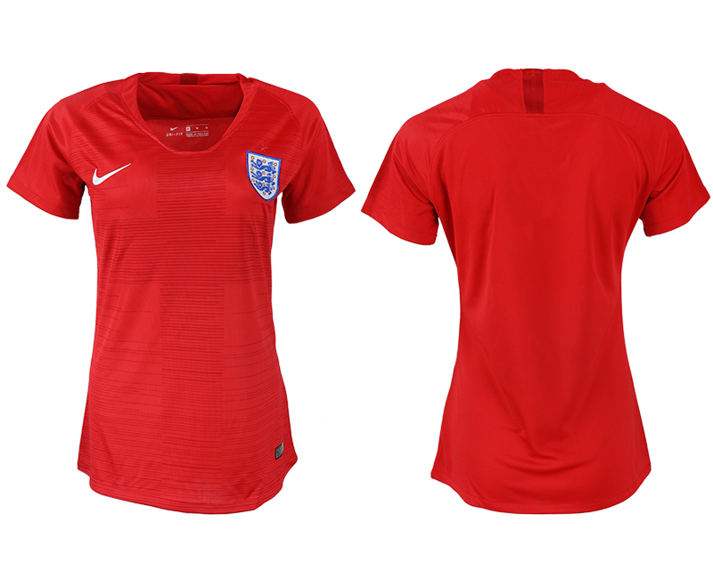 Women 2018 World Cup England away aaa version blank red soccer jersey