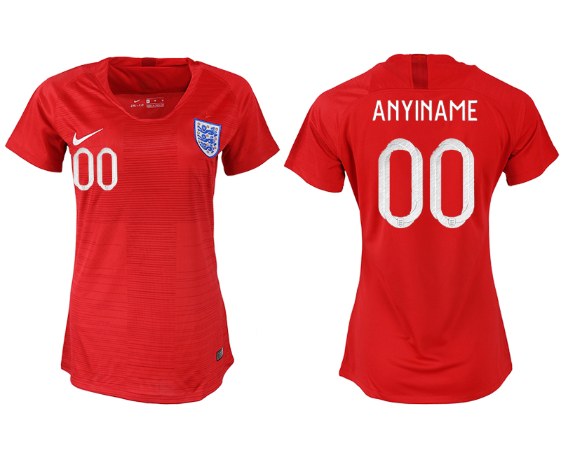 Women 2018 World Cup England away aaa version customized red soccer jersey