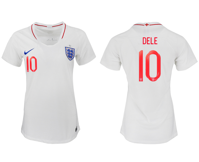 Women 2018 World Cup England home aaa version 10 white soccer jersey2