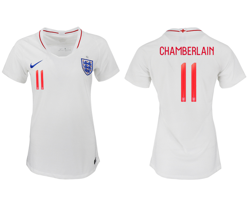 Women 2018 World Cup England home aaa version 11 white soccer jersey