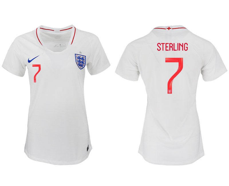 Women 2018 World Cup England home aaa version 7 white soccer jersey1