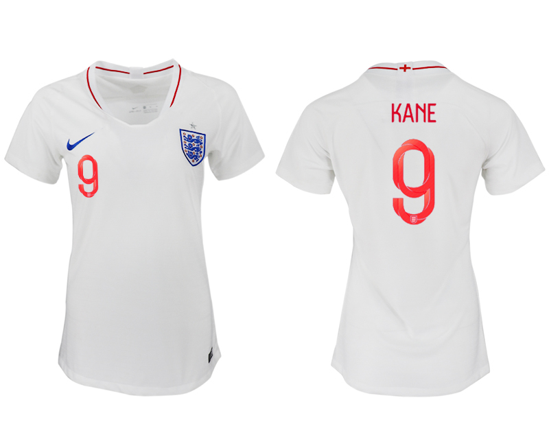 Women 2018 World Cup England home aaa version 9 white soccer jersey
