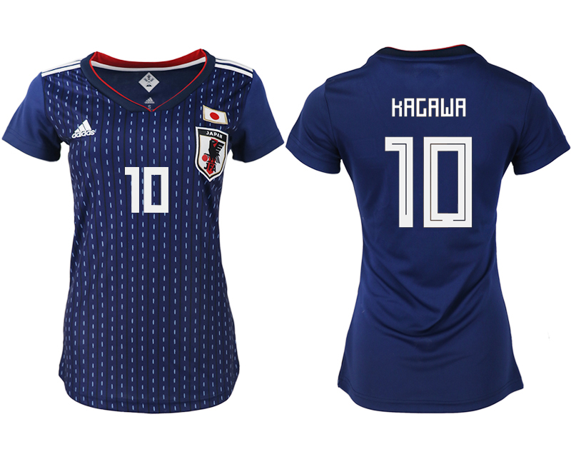 Women 2018 World Cup Japan home aaa version 10 blue soccer jerseys