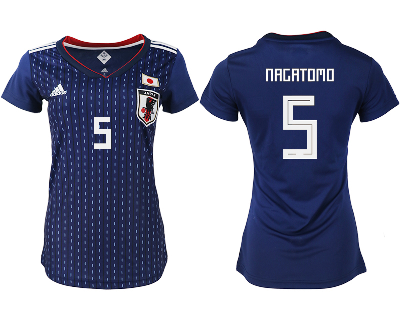 Women 2018 World Cup Japan home aaa version 5 blue soccer jerseys