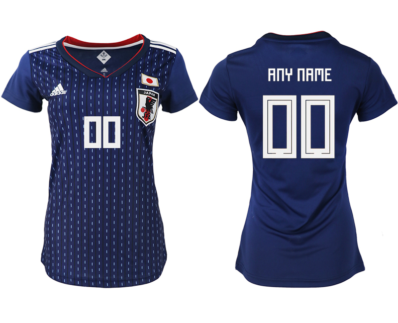 Women 2018 World Cup Japan home aaa version customized blue soccer jerseys
