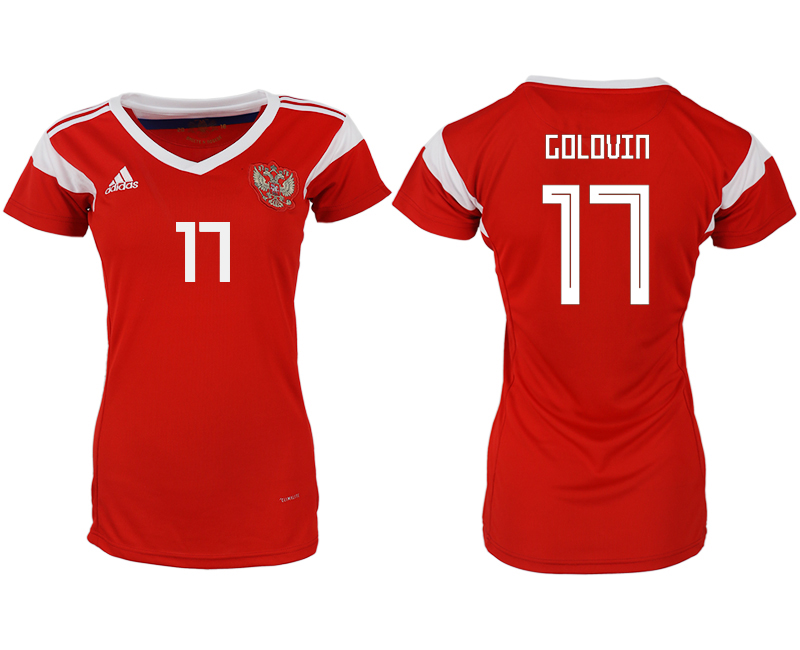 Women 2018 World Cup Russia home aaa version 17 red soccer jerseys