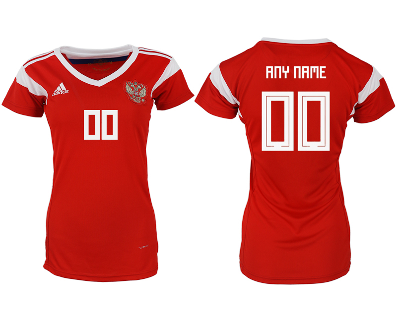 Women 2018 World Cup Russia home aaa version customized red soccer jerseys