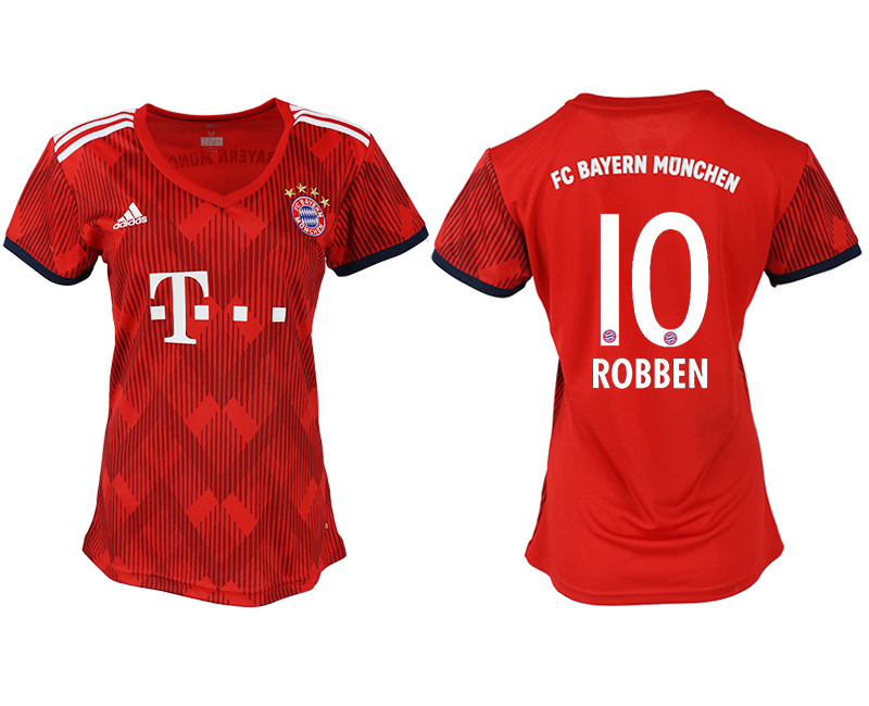Women 2018-2019 club Bayern Munich home aaa version 10 red soccer jerseys