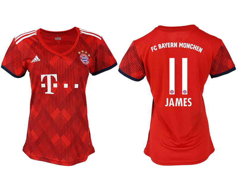 Women 2018-2019 club Bayern Munich home aaa version 11 red soccer jerseys