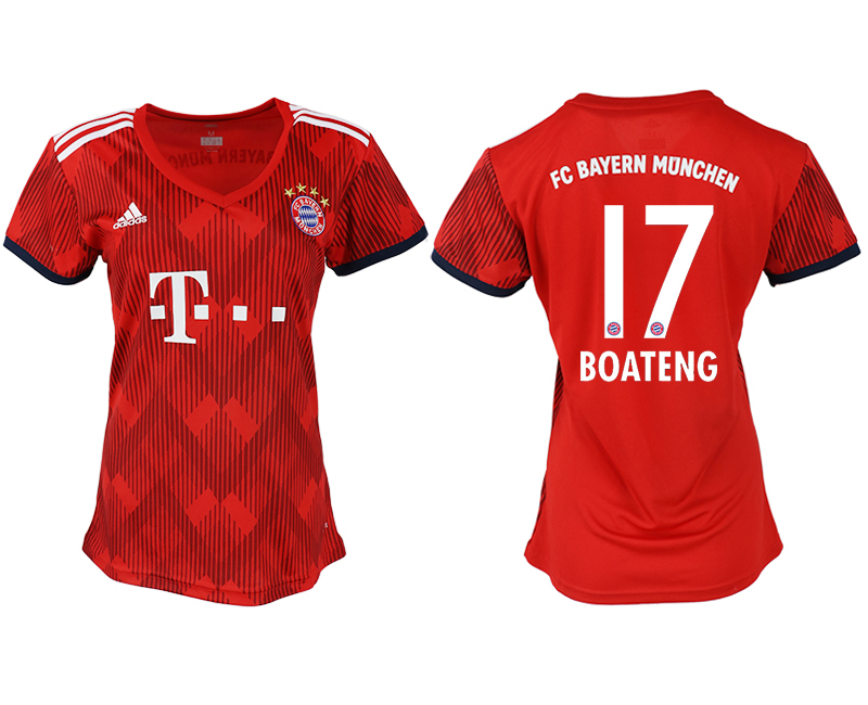 Women 2018-2019 club Bayern Munich home aaa version 17 red soccer jerseys