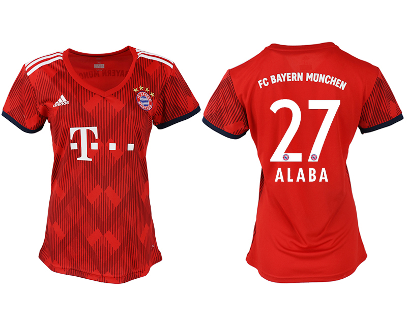 Women 2018-2019 club Bayern Munich home aaa version 27 red soccer jerseys