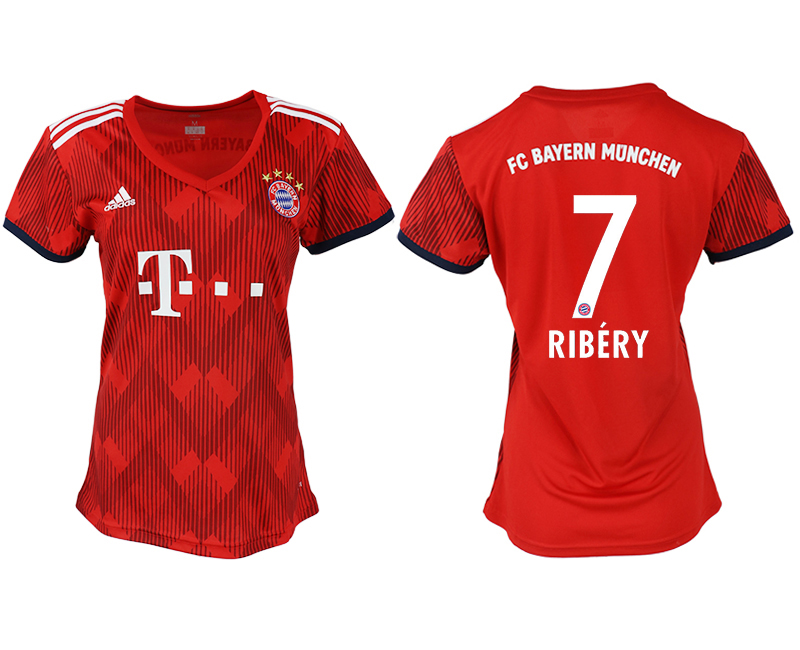 Women 2018-2019 club Bayern Munich home aaa version 7 red soccer jerseys