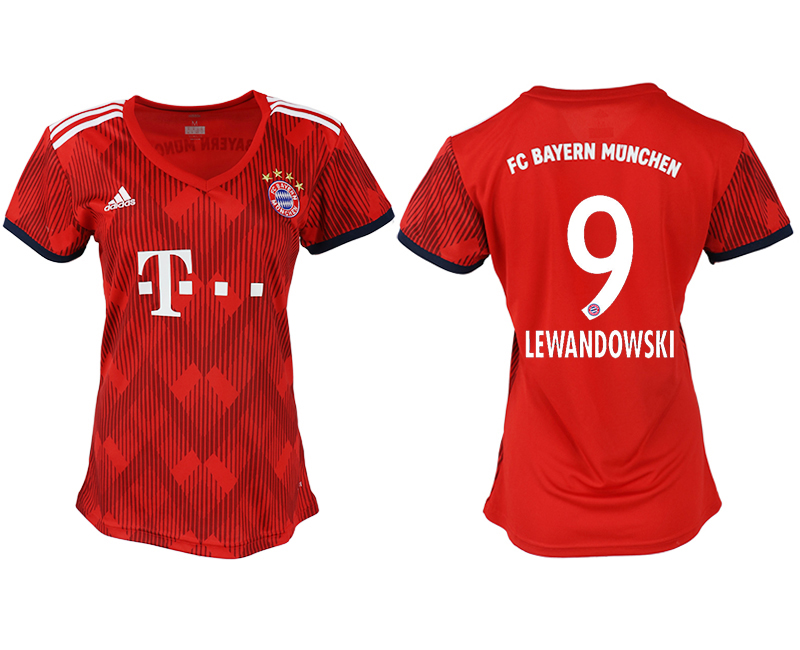 Women 2018-2019 club Bayern Munich home aaa version 9 red soccer jerseys