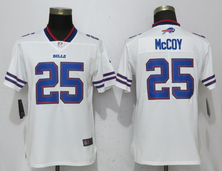 Women Buffalo Bills 25 McCoy White Nike Vapor Untouchable Limited Playe NFL Jerseys
