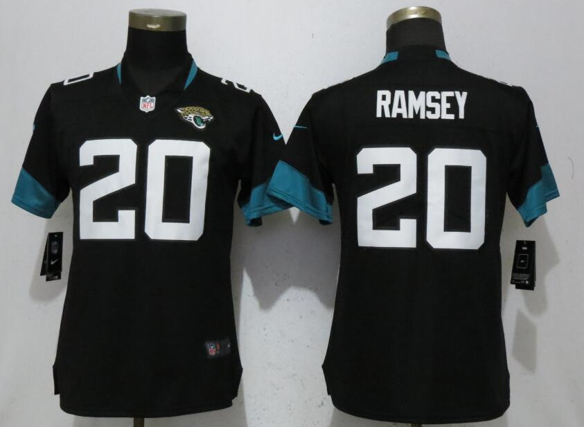 Women Jacksonville Jaguars 20 Ramsey Black Vapor Untouchable Elite Player Nike NFL Jerseys