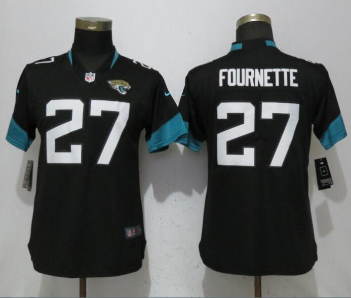 Women Jacksonville Jaguars 27 Fournette Black Vapor Untouchable Elite Player Nike NFL Jerseys