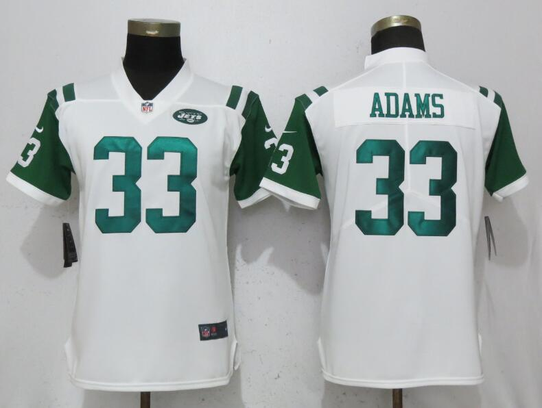 Women New York Jets 33 Adams White Nike Vapor Untouchable Limited Playe NFL Jerseys