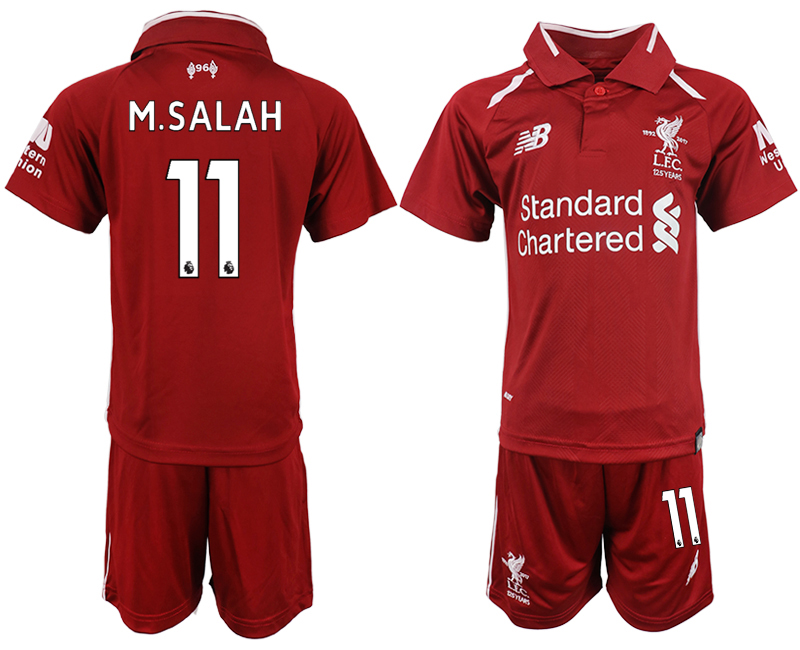Youth 2018-2019 club Liverpool home 11 red soccer jersey