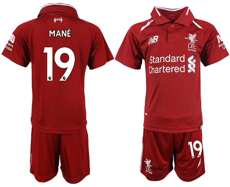 Youth 2018-2019 club Liverpool home 19 red soccer jersey
