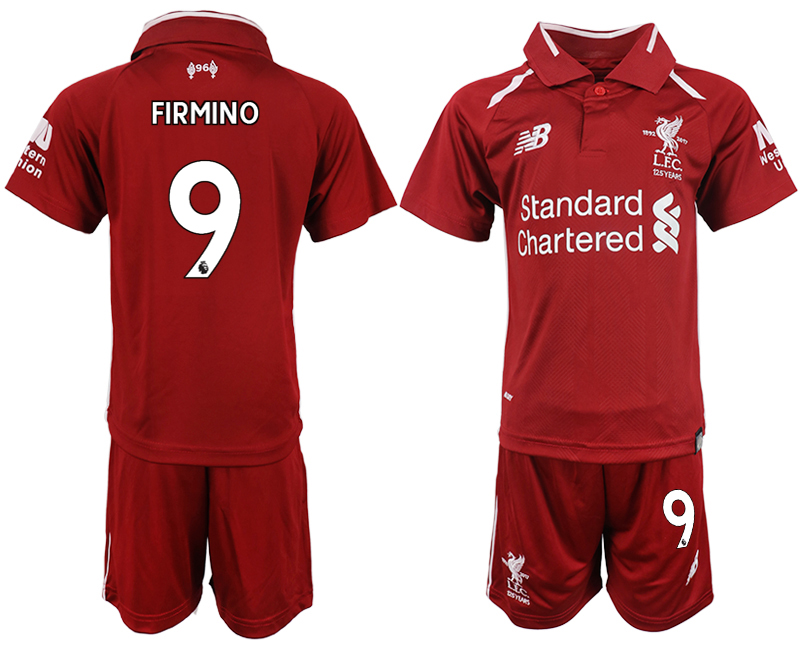 Youth 2018-2019 club Liverpool home 9 red soccer jersey