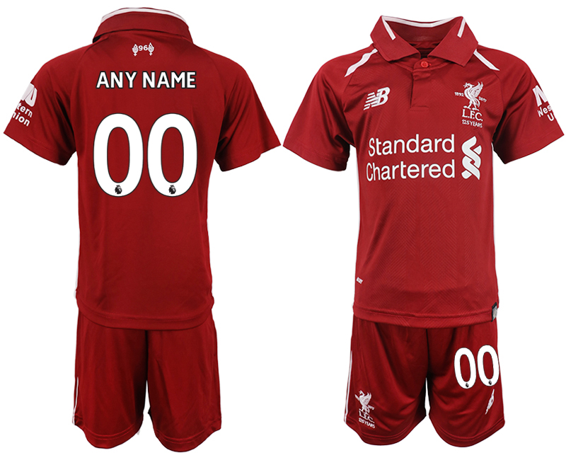 Youth 2018-2019 club Liverpool home customized red soccer jersey