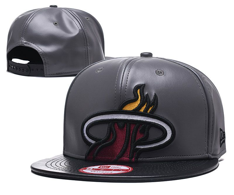 2018 NBA Miami Heat Snapback hat GSMY818